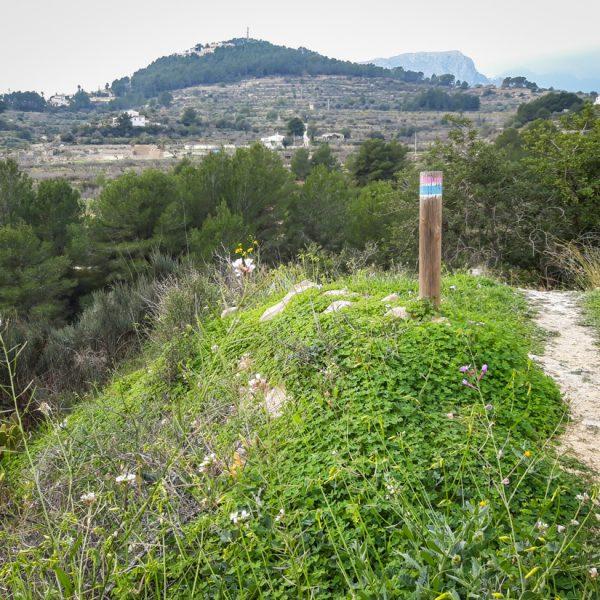 am Barranco del Quisi, Wanderwege in Calpe