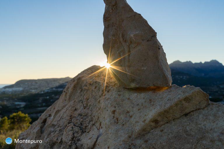 Abendlicht mit Stern 2, Sierra de Bernia