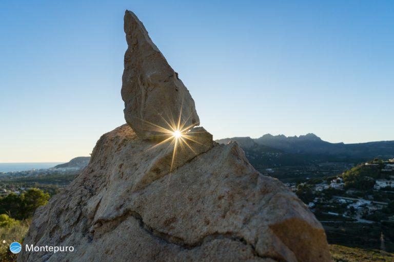Abendlicht mit Stern, Sierra de Bernia