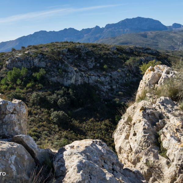 vistas de la Sierra de Bernia