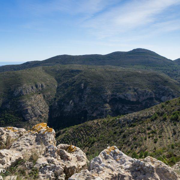 Barranco del Cau, cima Cau y Tossal de Navarro