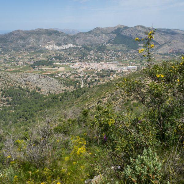 Alt de l´Ample, vistas a Sierra del Castell de la Solana y Xaló