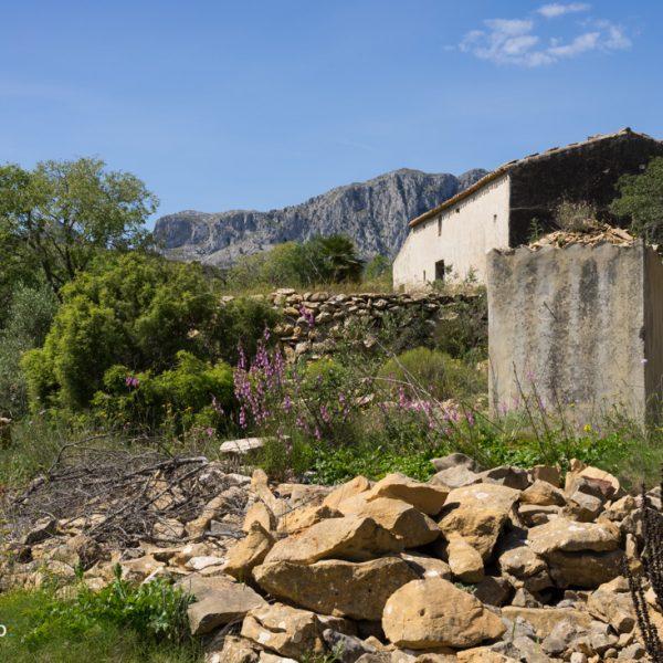 altes Bauernhaus an der Sierra de Bèrnia