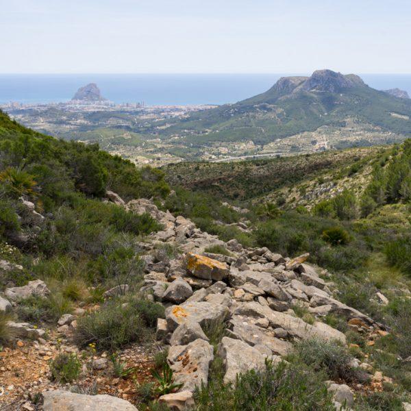 Blick in die Sierra de Oltà
