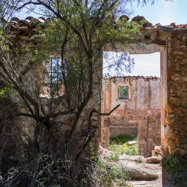 Ruinen im Pinienwald in Calpe, Wanderweg Casa del Cocó