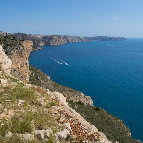 Ausblick von Cap d´Or zum Cap de la Nao