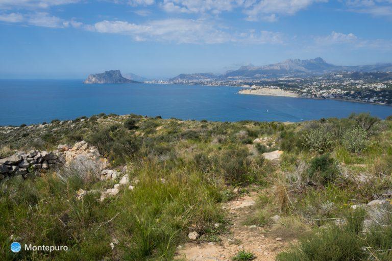 vista desde Cap d´Or al Peñón de Ifach