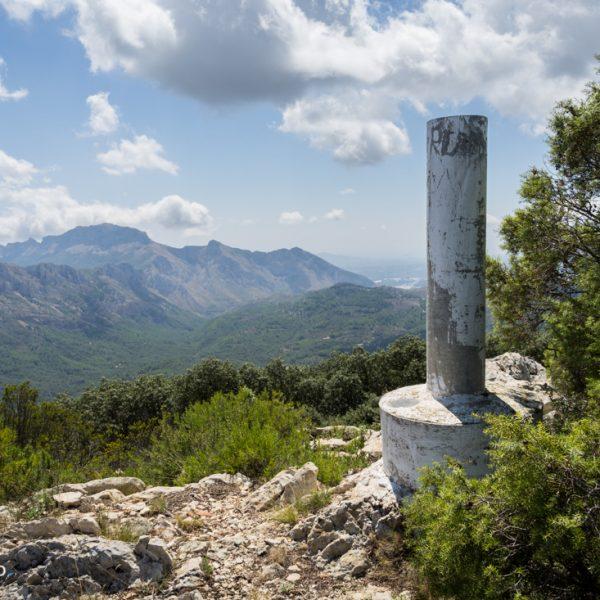 Vértice Geodésico Coll de Rates, Sierra del Carrascal de Parcent