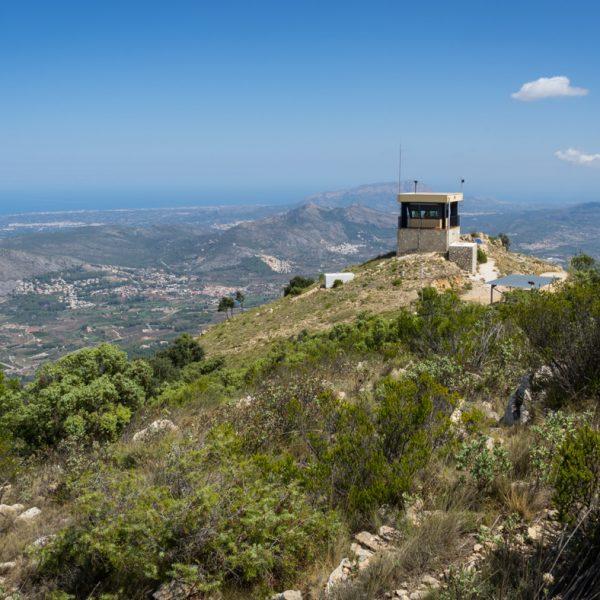 Caseta Forestal, Beobachtungsposten in der Sierra del Carrascal de Parcent