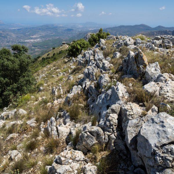 auf dem Bergrücken der Sierra del Carrascal de Parcent