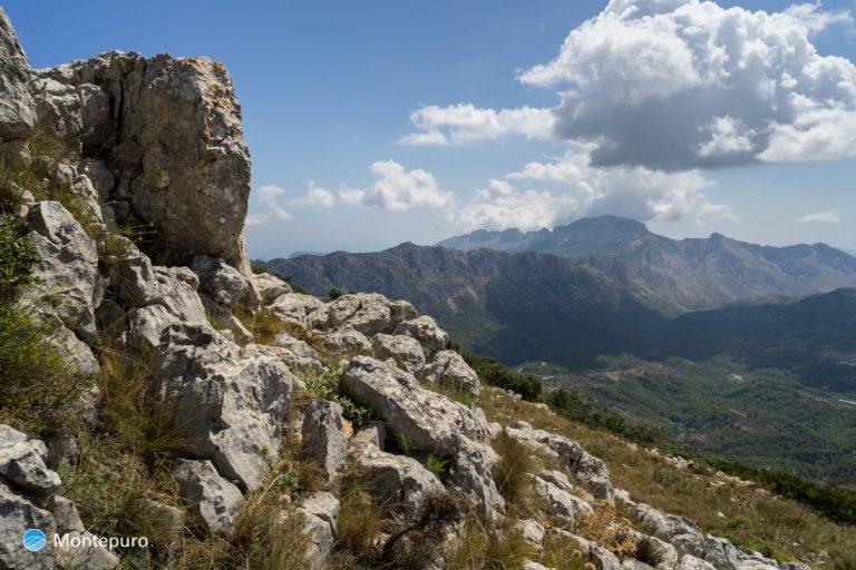 Sierra del Carrascal de Parcent, vista a Bernia