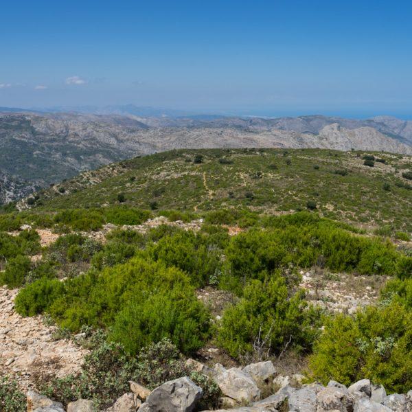 Sierra del Carrascal de Parcent, Abstieg