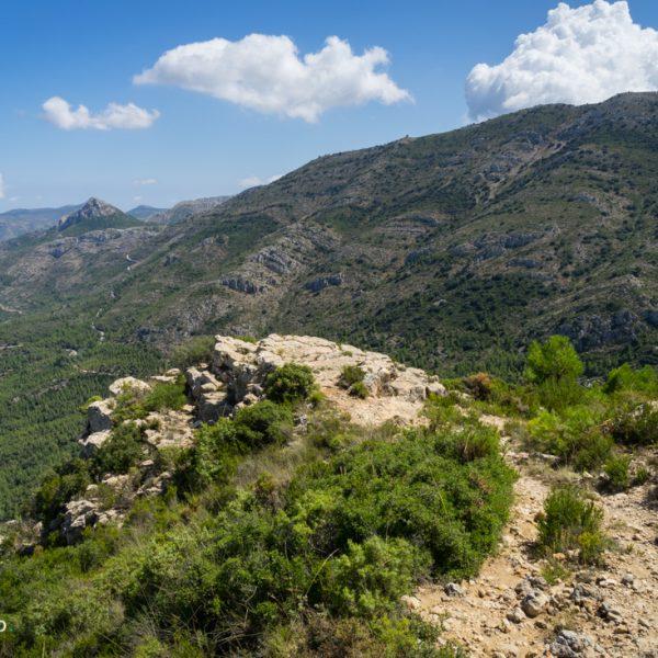 Abstieg Sierra del Carrascal de Parcent