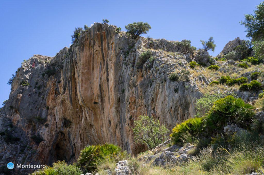 Steilwand von l´Ocaive, Serra del Castell de la Solana