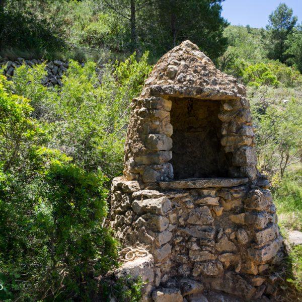 Brunnen am Camino de los pozos, Serra del Castell de la Solana