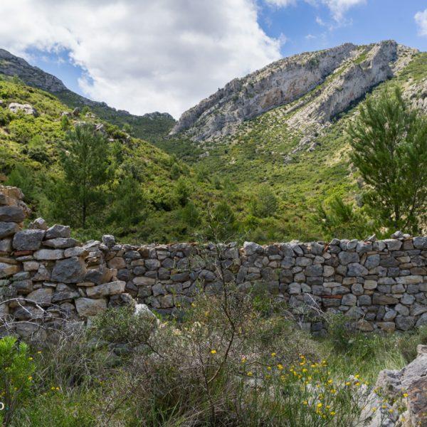 Aufstieg Castell d´Aixa, Ruine Steinhaus