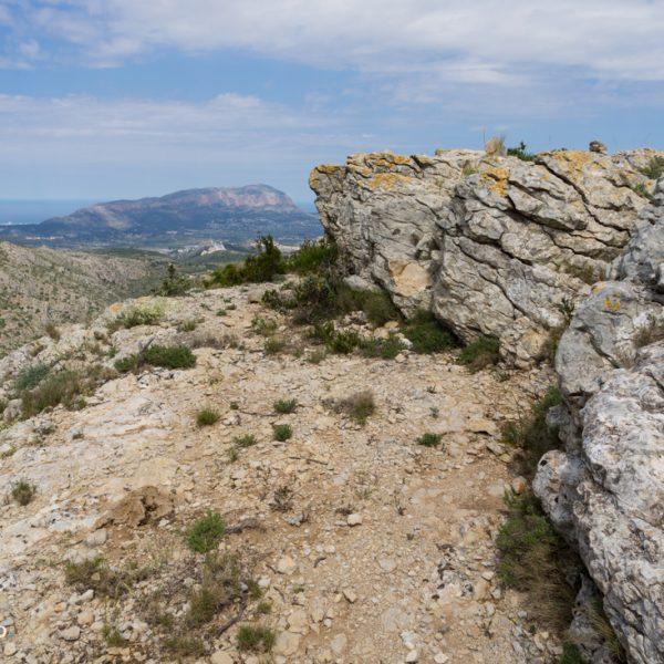 Tossal Gran, Blick zum Montgó