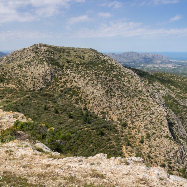 Tossal Gran, Blick auf Castell d´Aixa