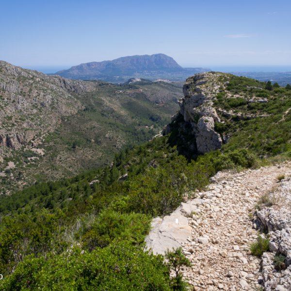 Serra del Castell de la Solana, Blick zum Montgó