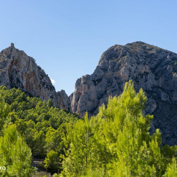 Castellet de Calp, cañón del Mascarat o el Barranc Salat