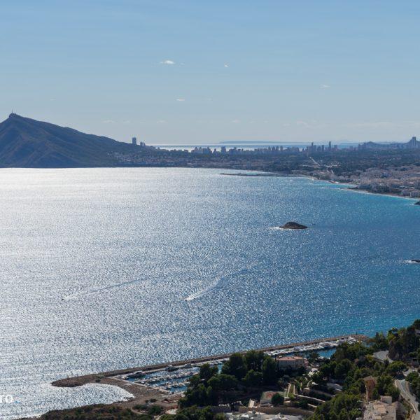 Sierra Helada y Benidorm, mar Mediterráneo