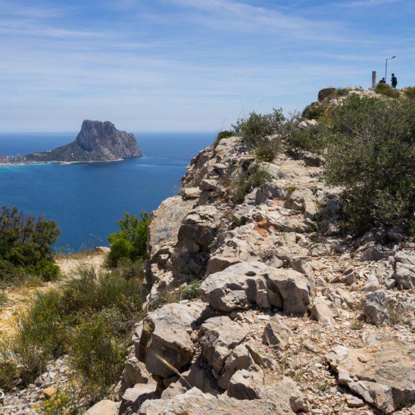 Serra de Toix, Vèrtice Geodésico, Blick auf den Peñón de Ifach in Calpe