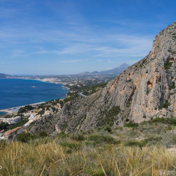 Mascarat und Serra Gelada, Ausblick von Castellet de Calp