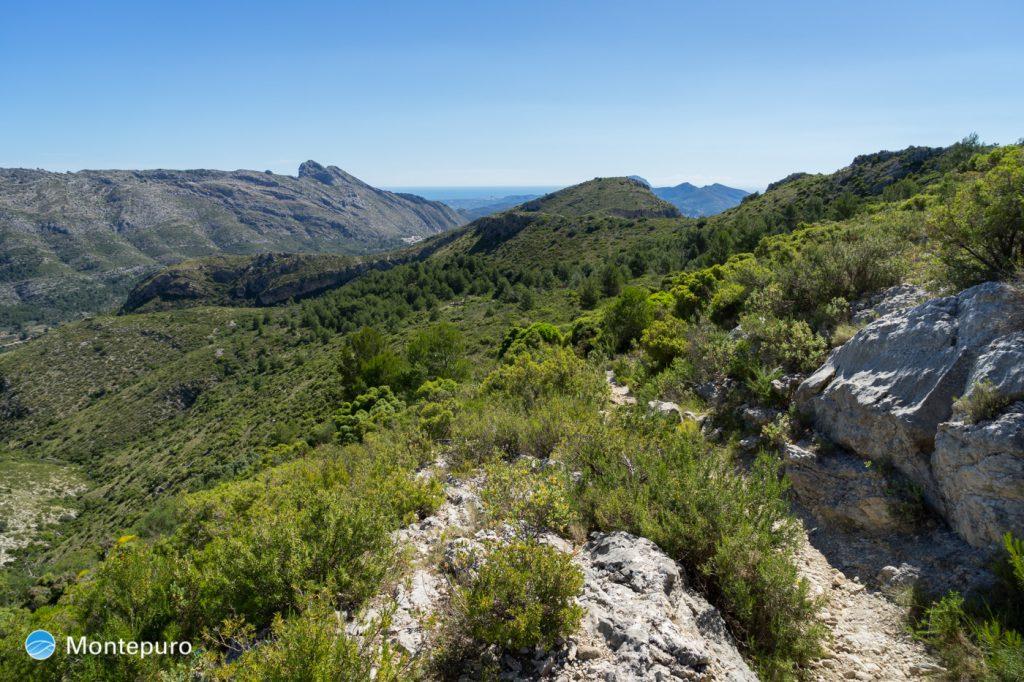 senderismo Cocoll, panorama del Cavall Verd