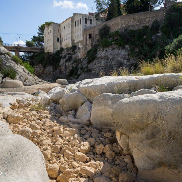 Flussbett des Río Gorgos in Gata de Gorgos