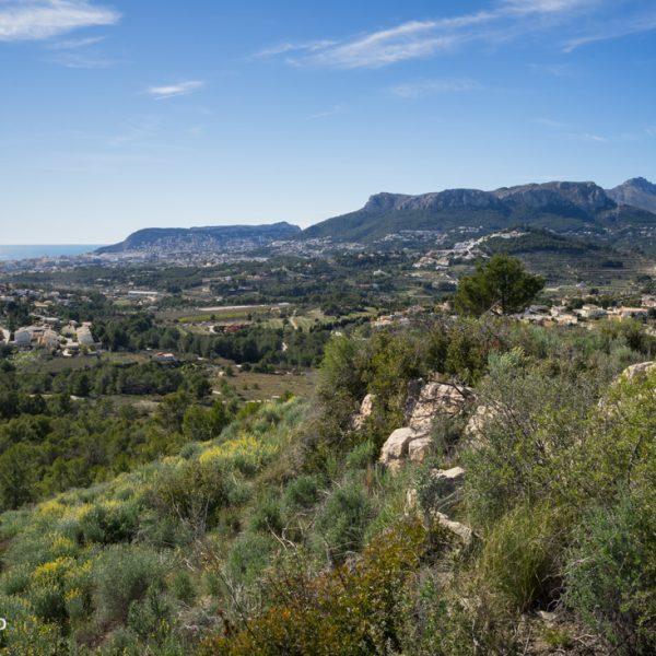 Panorama Wandern bei Calpe und Blick in die Sierra de Olta