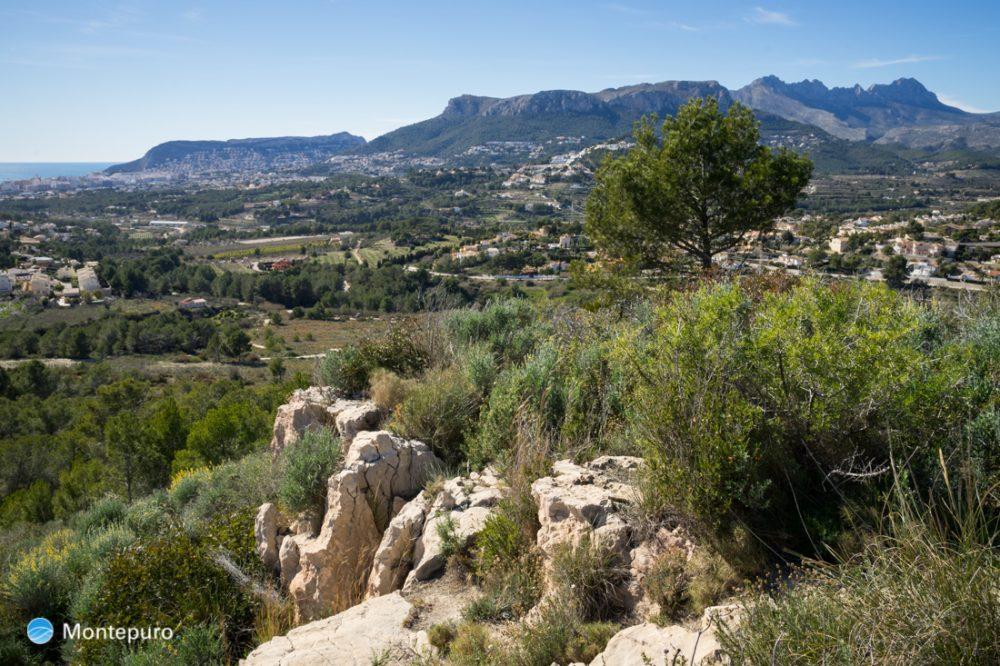 senderismo en Calpe, panorama de la Sierra de Olta
