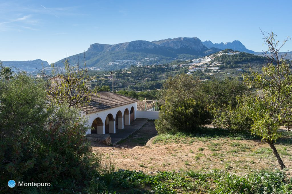 Ermita de la Cometa en Calpe, Sierra de Oltà
