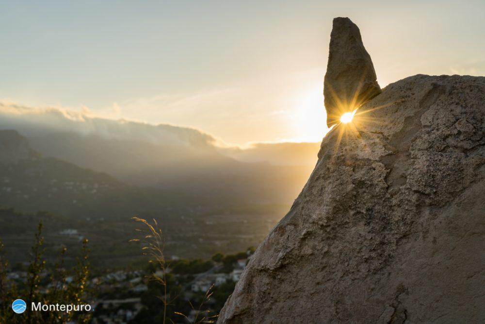 Goldenes Abendlicht mit Stern, Costa Blanca