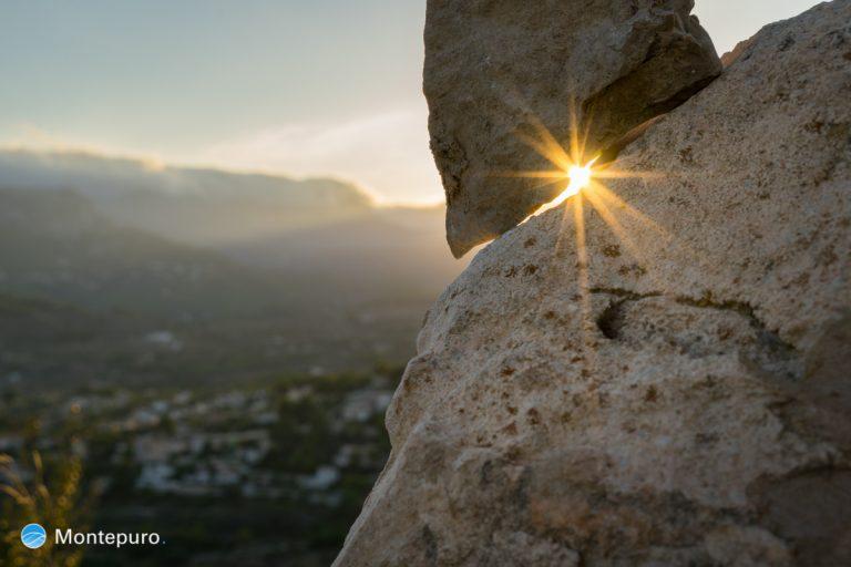 Goldenes Abendlicht mit Stern 2, Costa Blanca