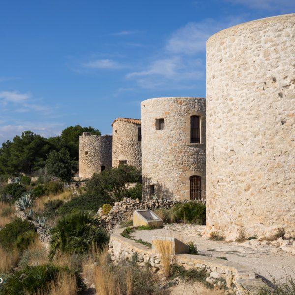 Molinos de la Plana, die historischen Windmühlen in Jávea