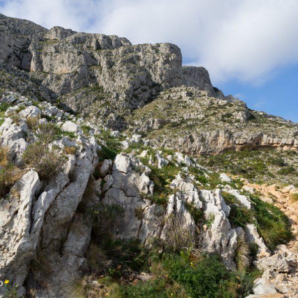 macizo del Montgó, formas de la piedra caliza