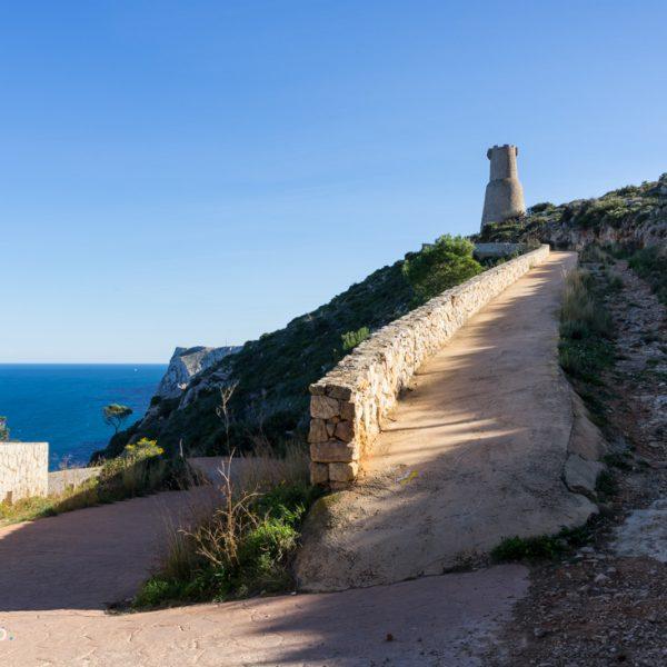 Via Lactea und Torre del Gerro bei Dénia