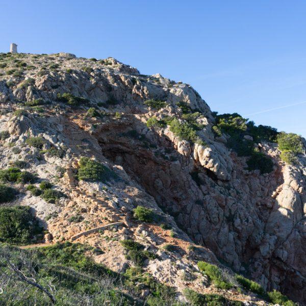 Küstenpfad zur Cova Tallada, Torre del Gerro