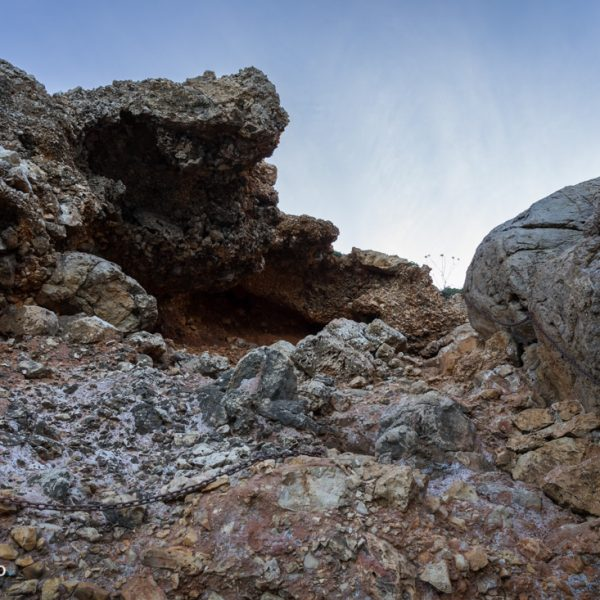 descenso por la pendiente a Cova Tallada