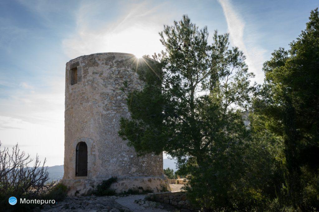 Molinos de la Plana bei Jávea, alte Windmühlen
