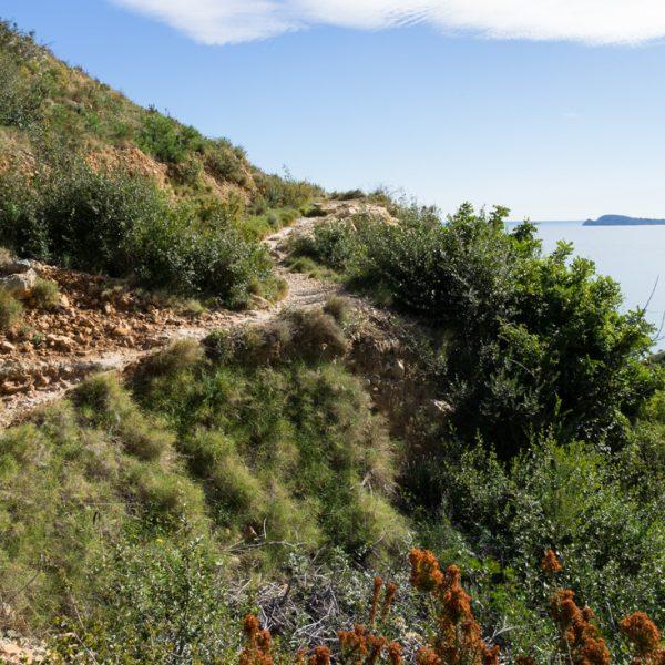 subida desde Jávea al faro del Cabo de San Antonio