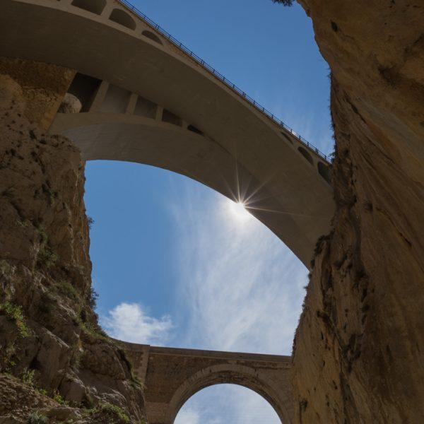 Cañón del Mascarat, puente moderno y puente antiguo