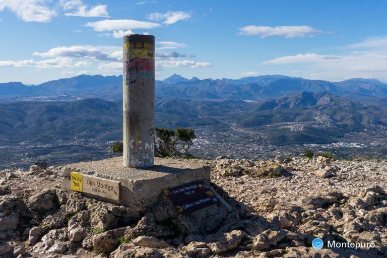 Vértice Geodésico en la Cima del Montgó