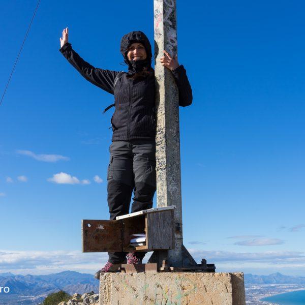 Montgó, en la cima Cruz de Dénia