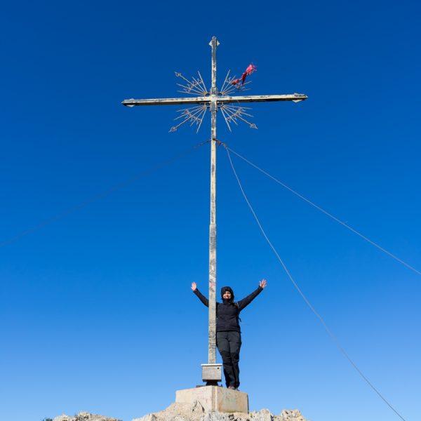 Montgó, en la cima con la Cruz de Dénia