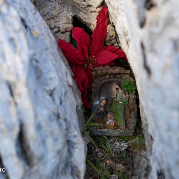 huellas de Navidad cerca la Cruz de Dénia