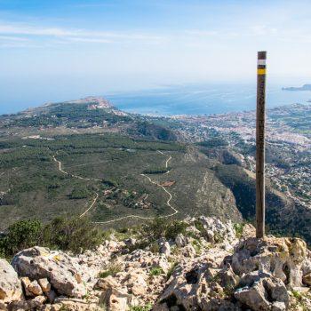Aufstieg Montgó und Aussicht auf Jávea