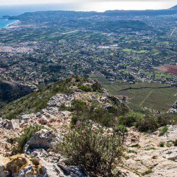 Aufstieg an der Ostseite des Montgó