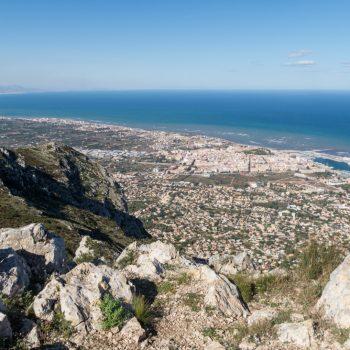 cima del Montgó, panorama de Dénia