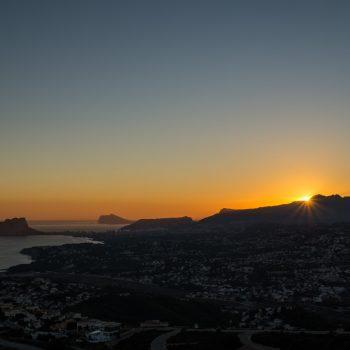 Sonnenuntergang Peñón de Ifach in Calpe